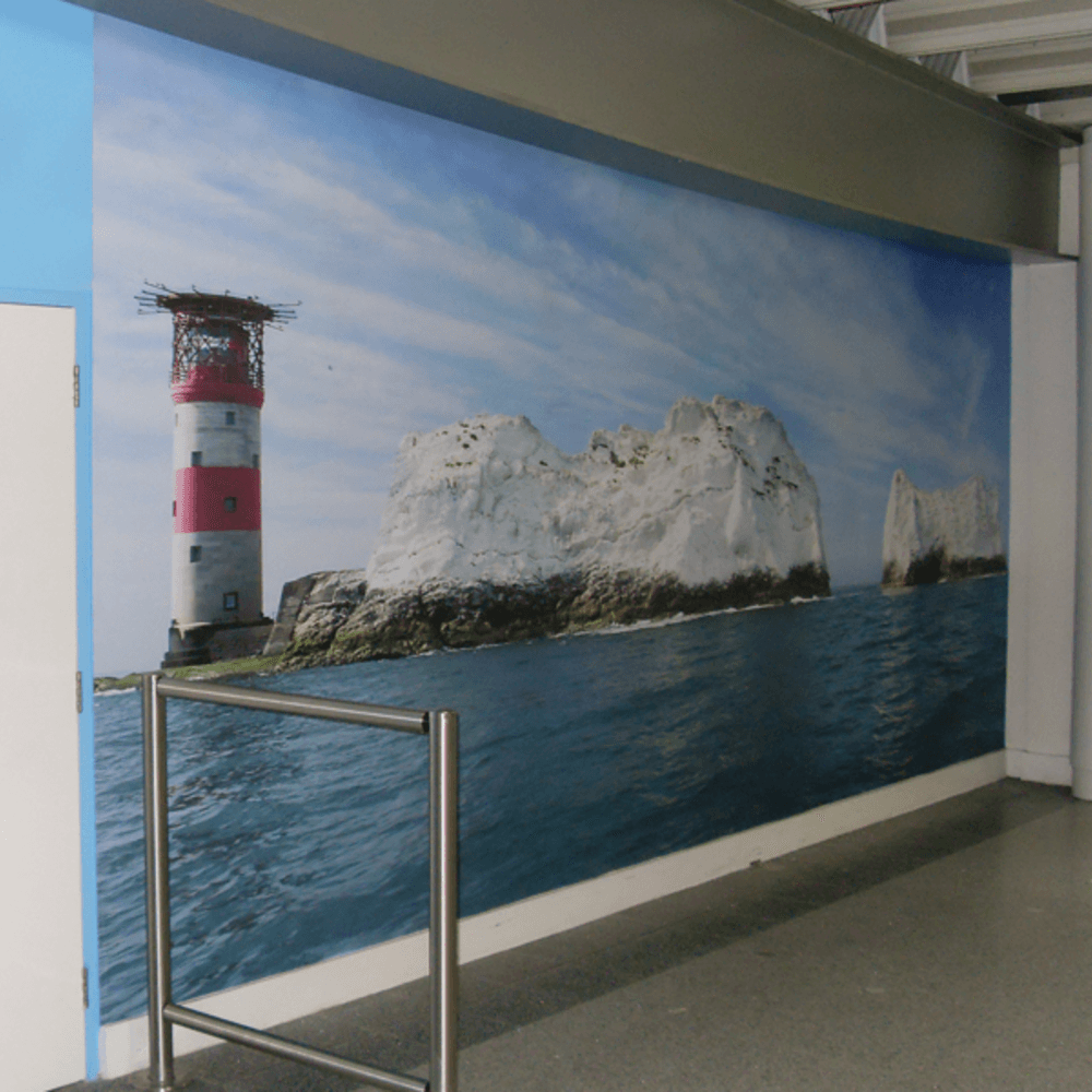 BAA Southampton Immigration Wall