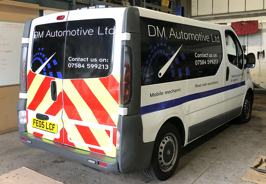 DM Automotive van graphics
