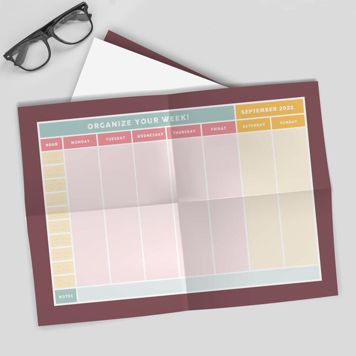 Folded Wall Planner A2 To A4 700px