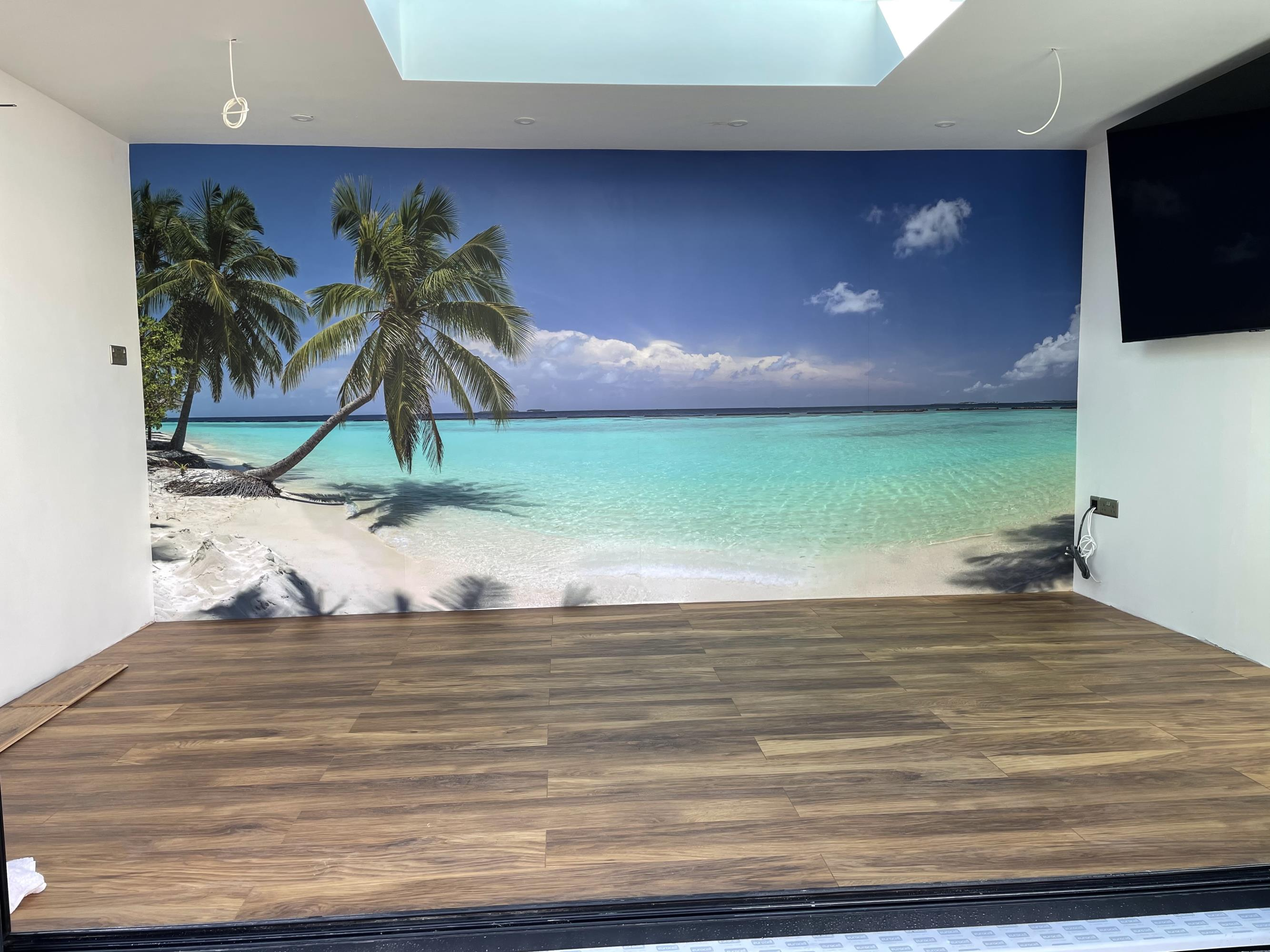 Beach Scene Wall Wrap Ely