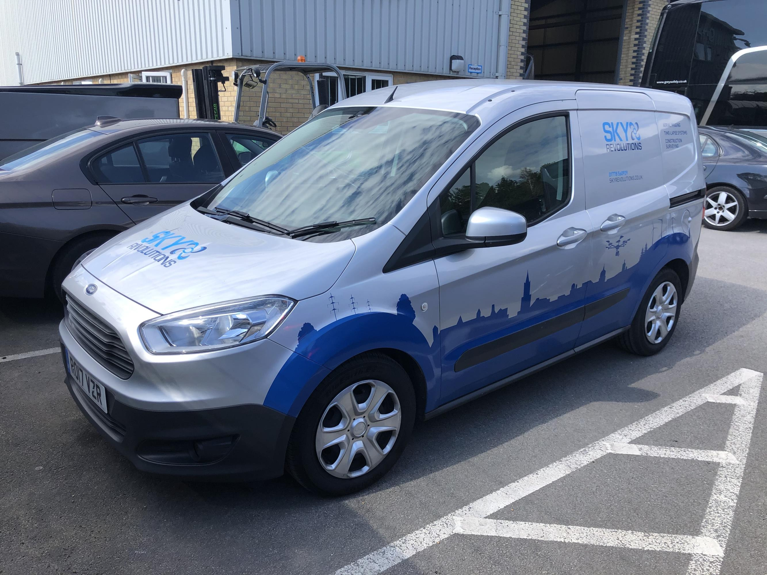 Sky revolutions ford connect van wrap