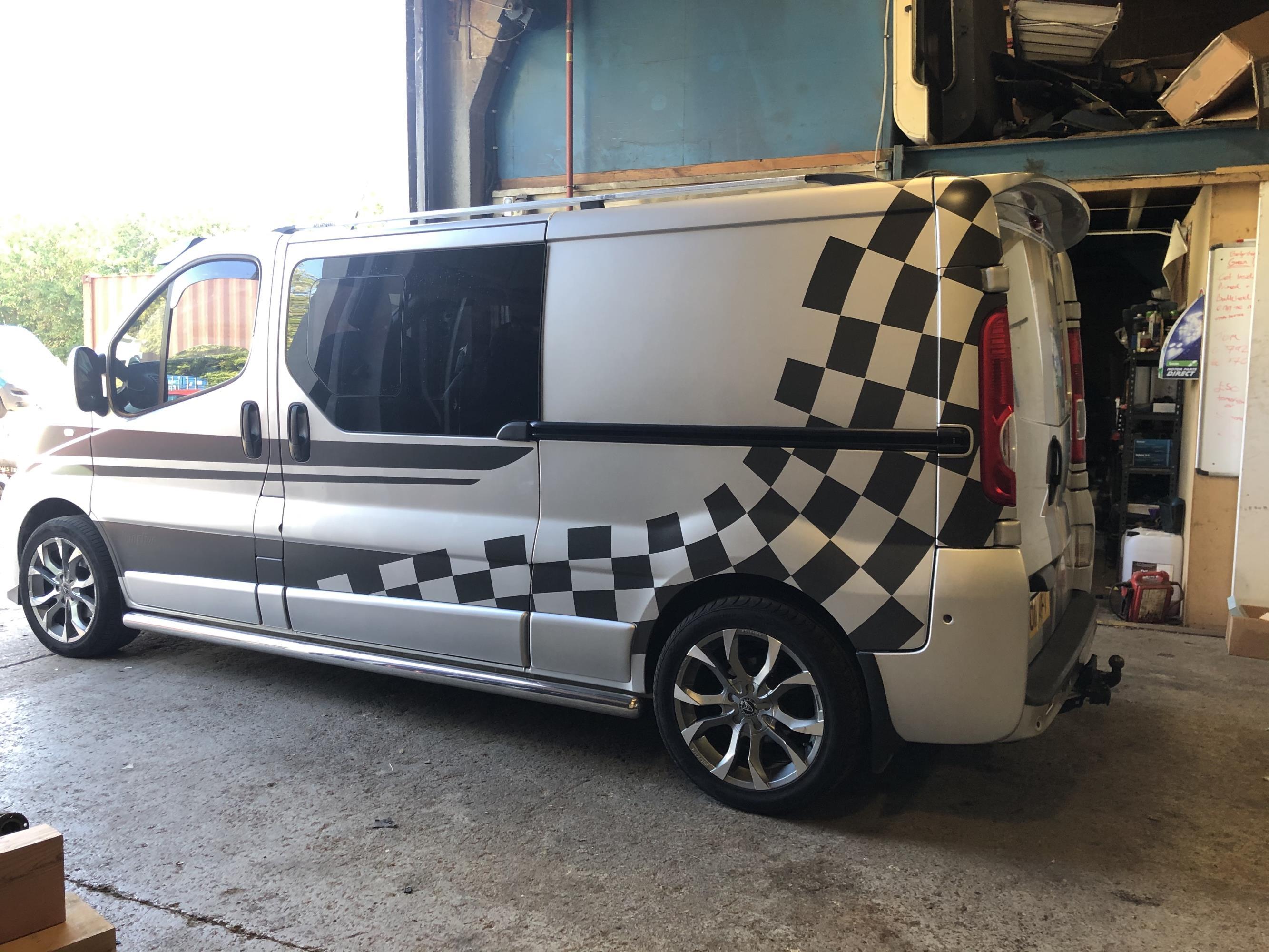 Vauxhall vivaro van graphics
