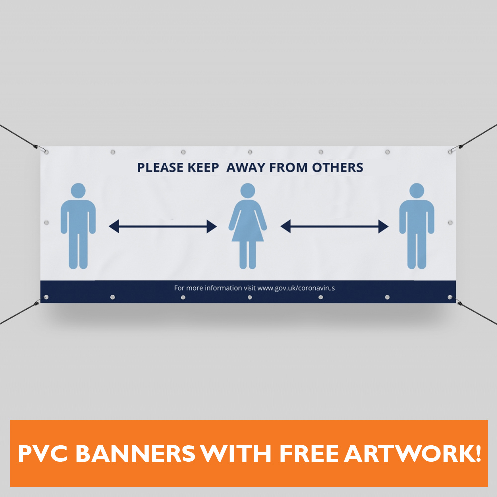 Pvc Social Distancing Banners1m