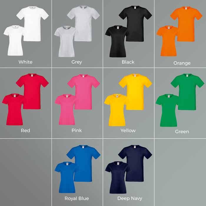 Comp Classic Printed T Shirt Colour Matrix