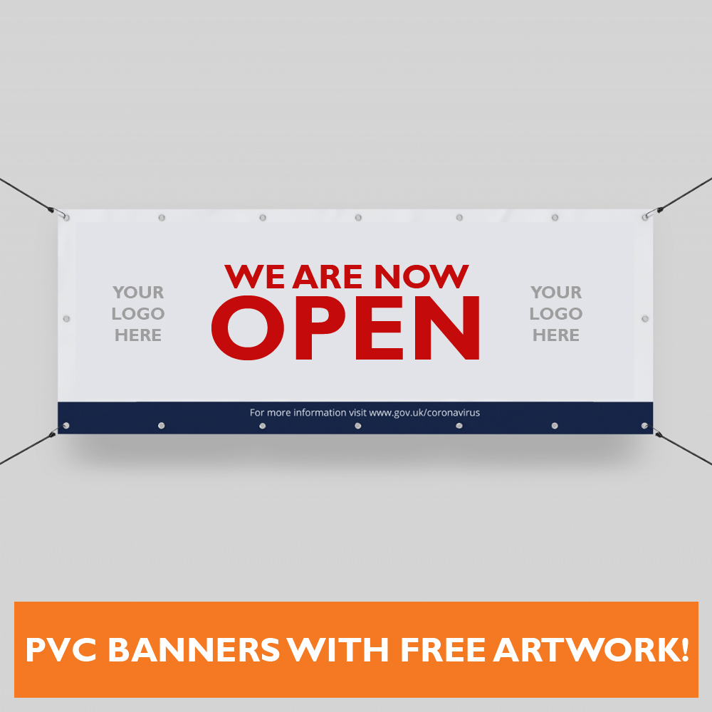 Covid 19 Open Now Banners