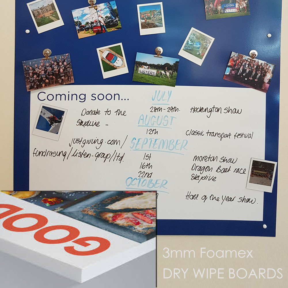 Dry Wipe Marker Boards