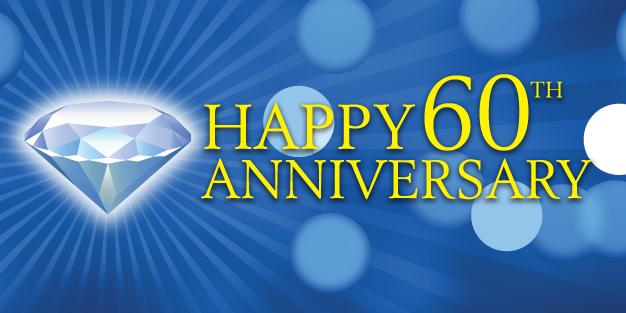Anniversary 60Th Diamond Banner Template Image