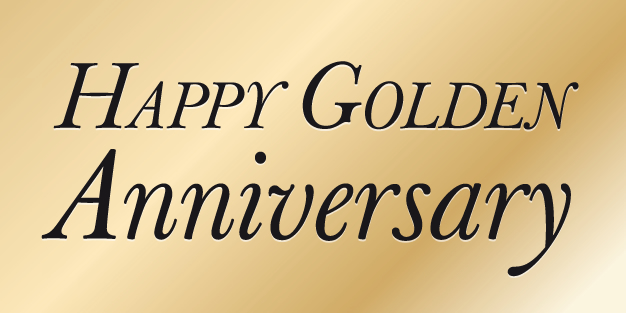 Anniversary Gold Banner Template Image