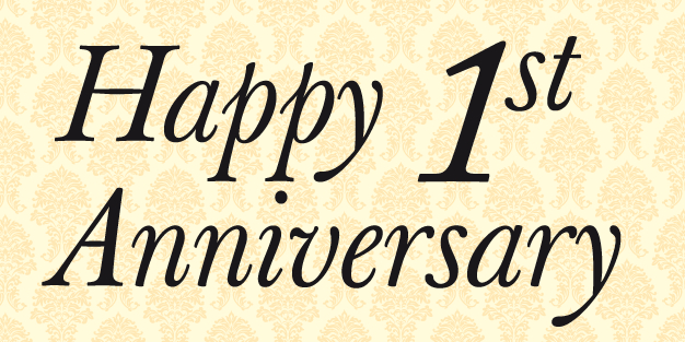 Anniversary Paper Banner Template Image