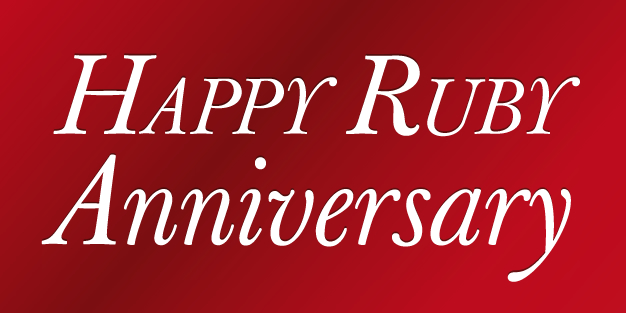 Anniversary Ruby Banner Template Image