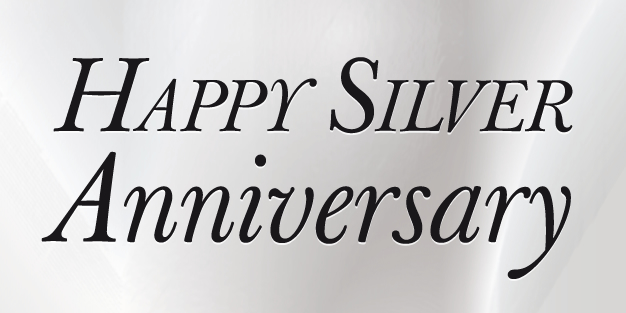 Anniversary Silver Banner Template Image
