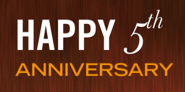 Anniversary Wood Banner Template Image