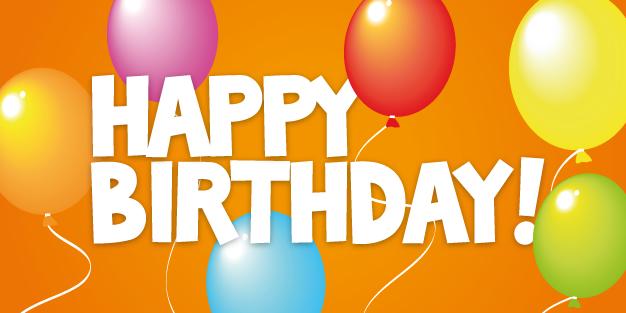 Birthday Balloons Banner Template Image