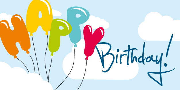Birthday Clouds And Balloons Banner Template Image