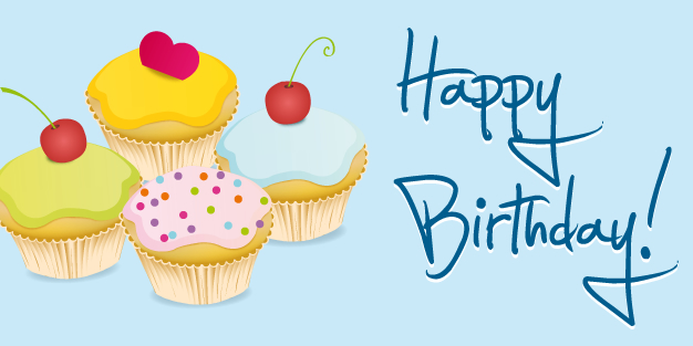 Birthday Cupcakes Banner Template Image
