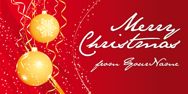 Christmas Baubles 01 Banner Template Image