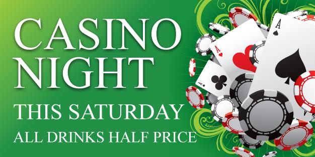 Pub Casino Night 01 Banner Template Image