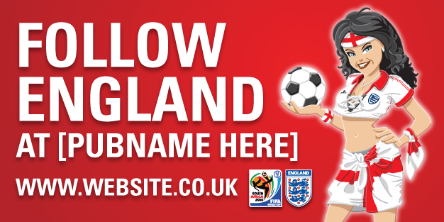 World Cup Follow England Banner Template Image