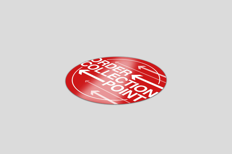 1000 Circle Vinyl Floor Stickers