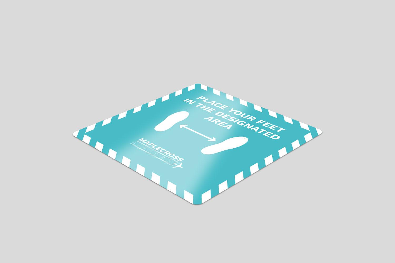 1000 Square Vinyl Floor Stickers