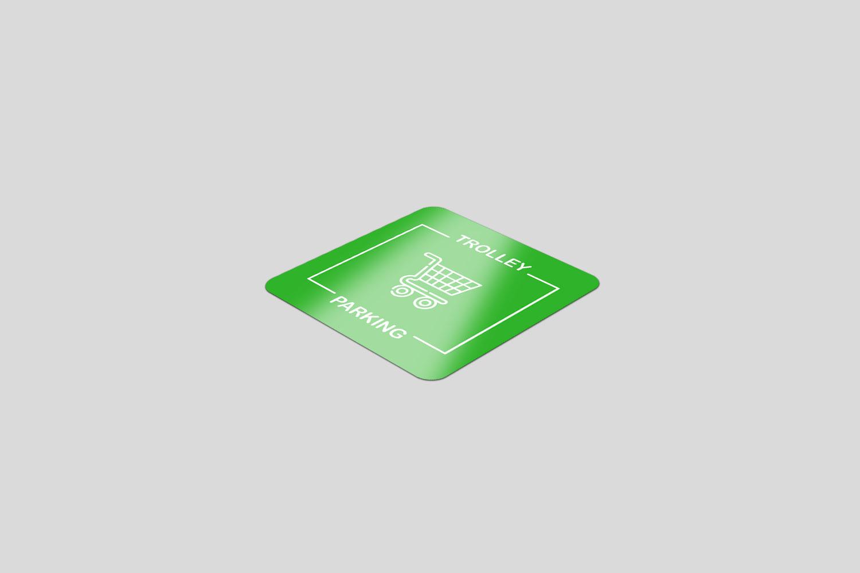 500 Square Vinyl Floor Stickers