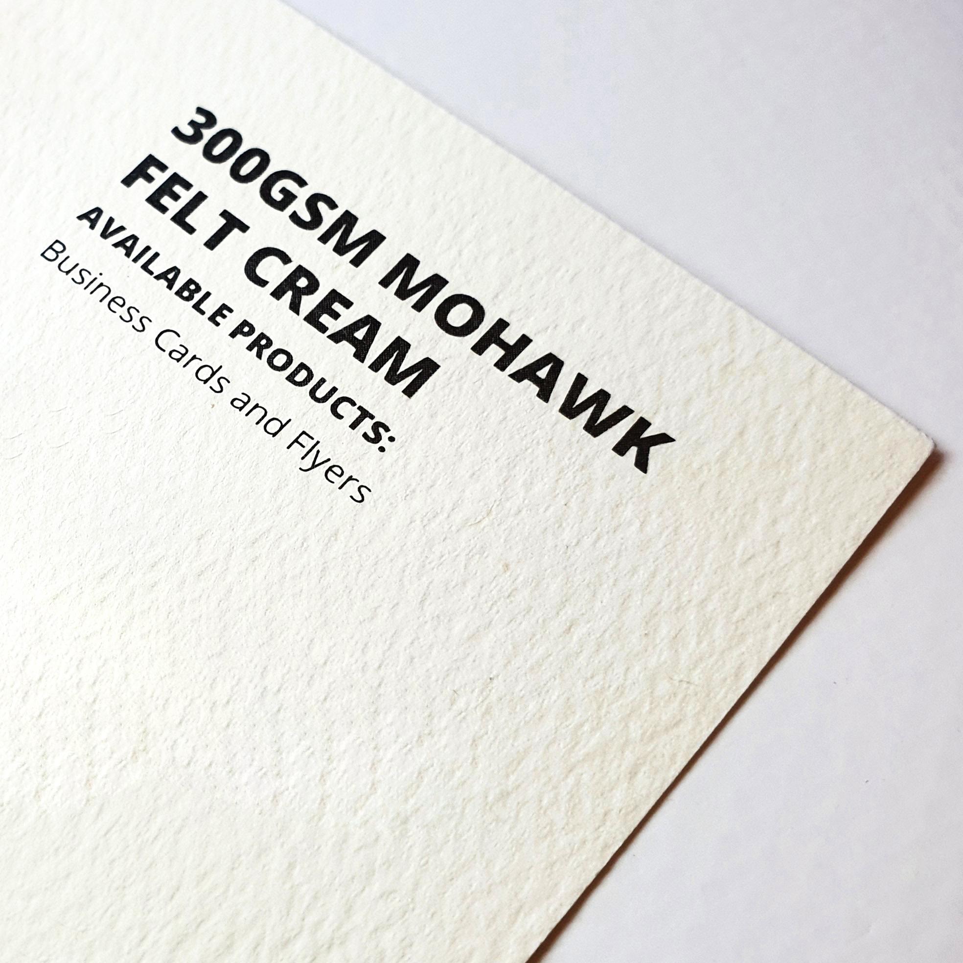 Mohawk Felt Cream Example