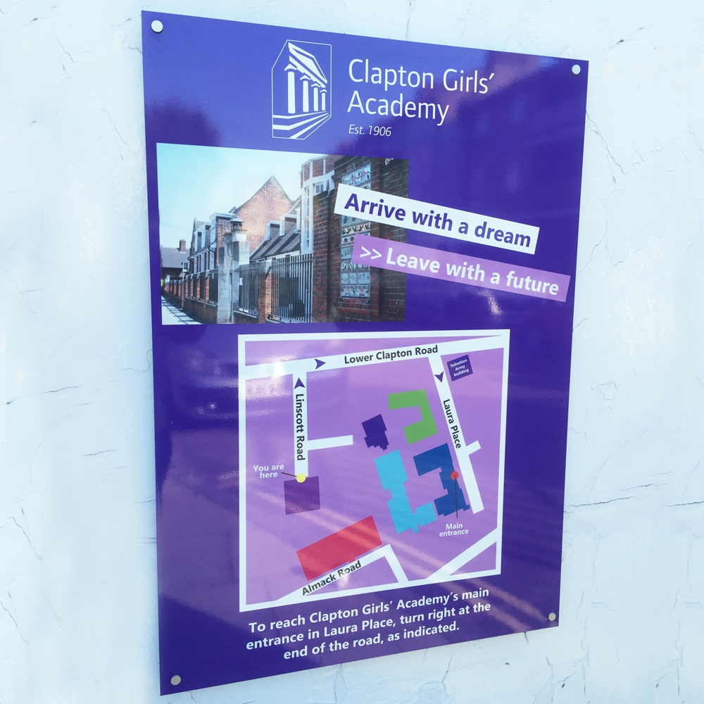 Di Bond Spaced Off Directional Sign