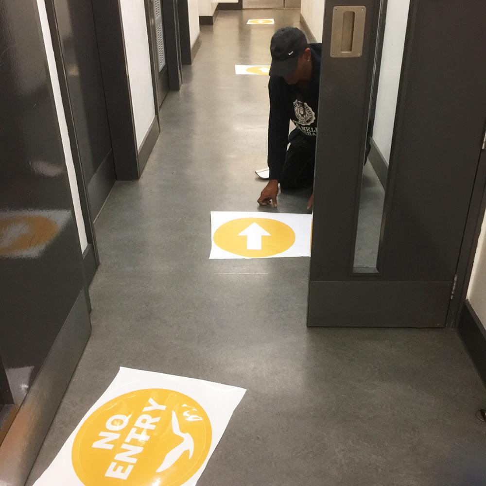 Floor Graphic Oneway