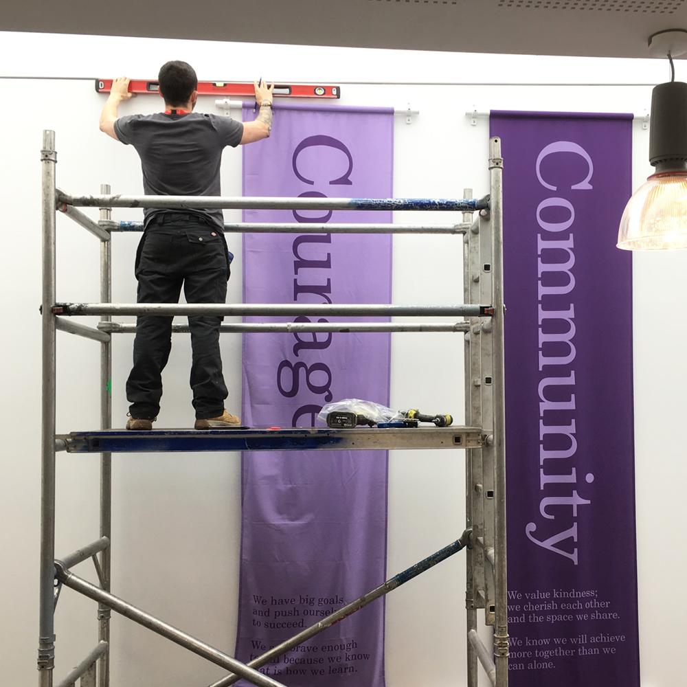Hanging Banner Installation