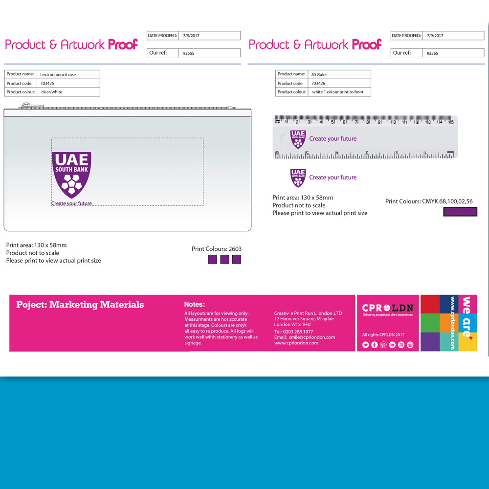 Product Artwork Proofs