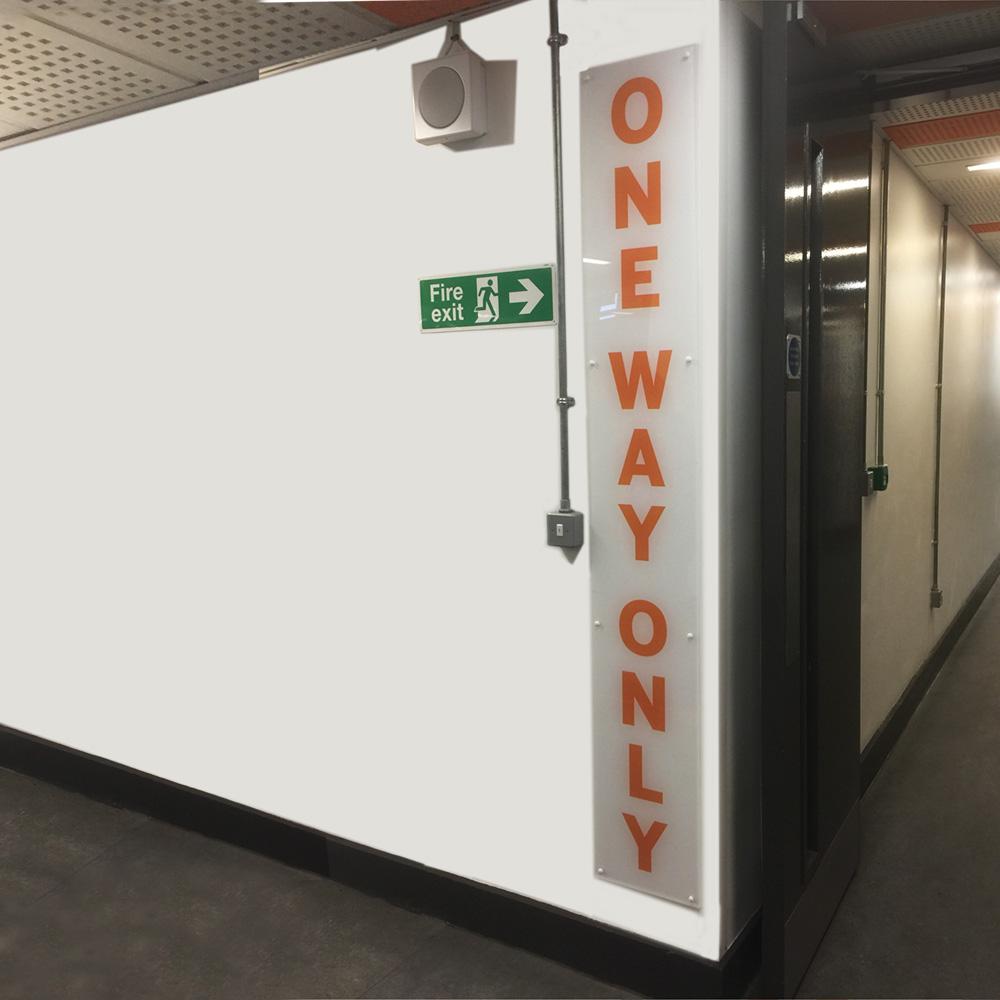 Acrylic One Way System Signage