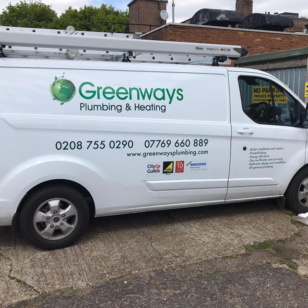 Medium Van Graphics Greenways Side
