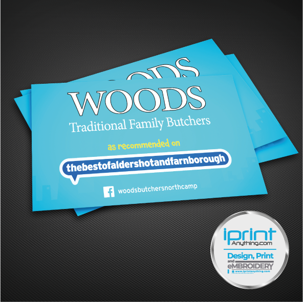 Business Card Woods Butchers