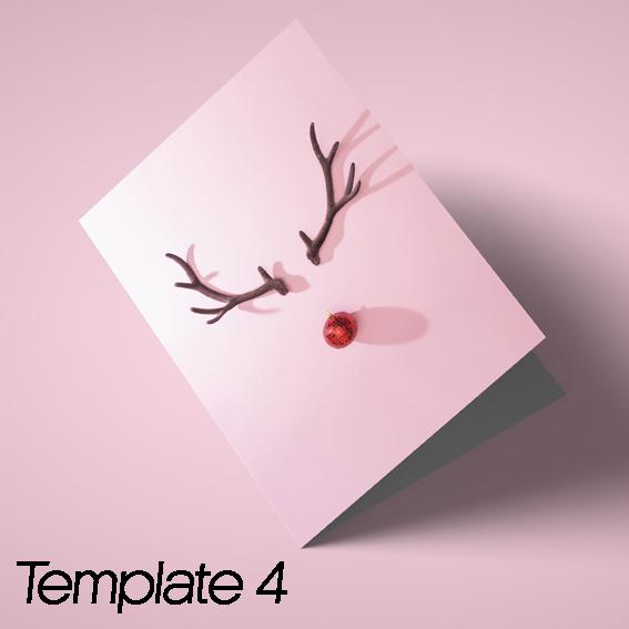 Xmas cards template 4