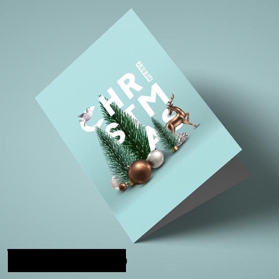 Xmas cards template 6