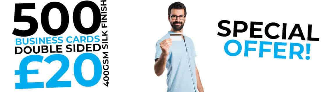 business card special offer slider image
