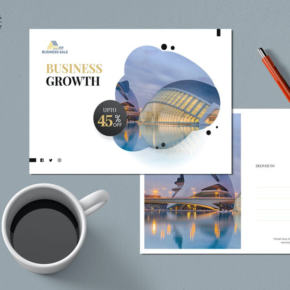 Business Growth Postcards