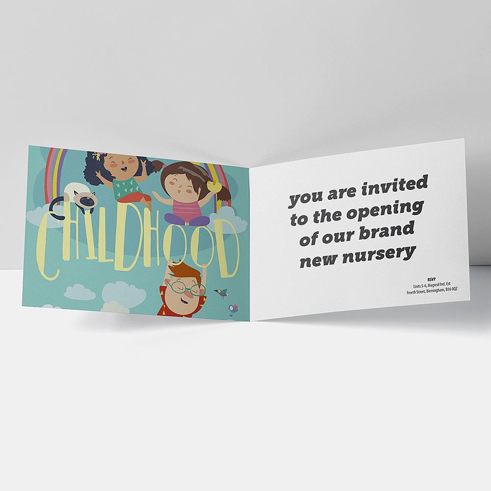 Childhood Greeting Landscape Cards