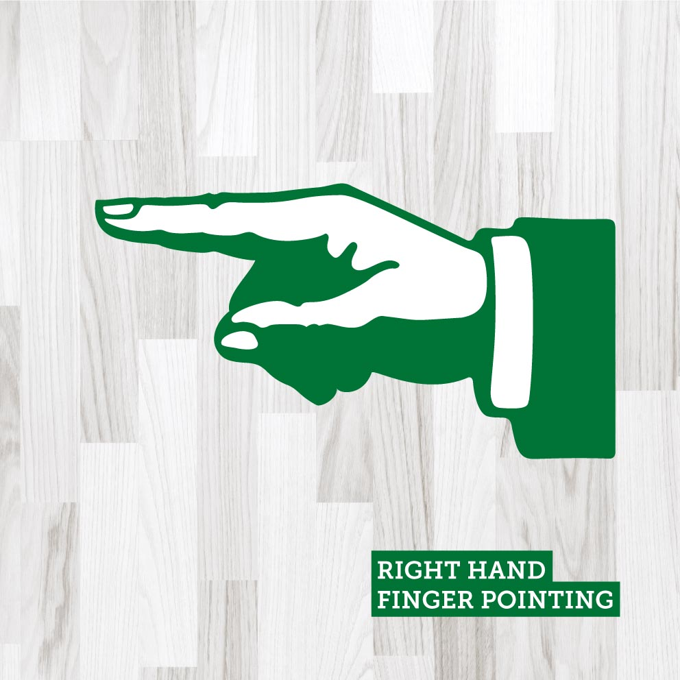 Finger Pointing Right Green