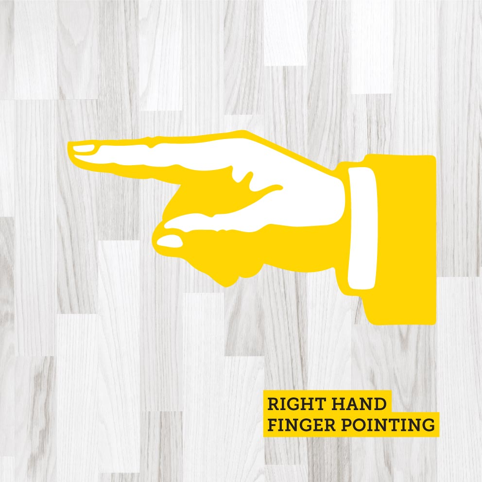 Finger Pointing Right Yellow