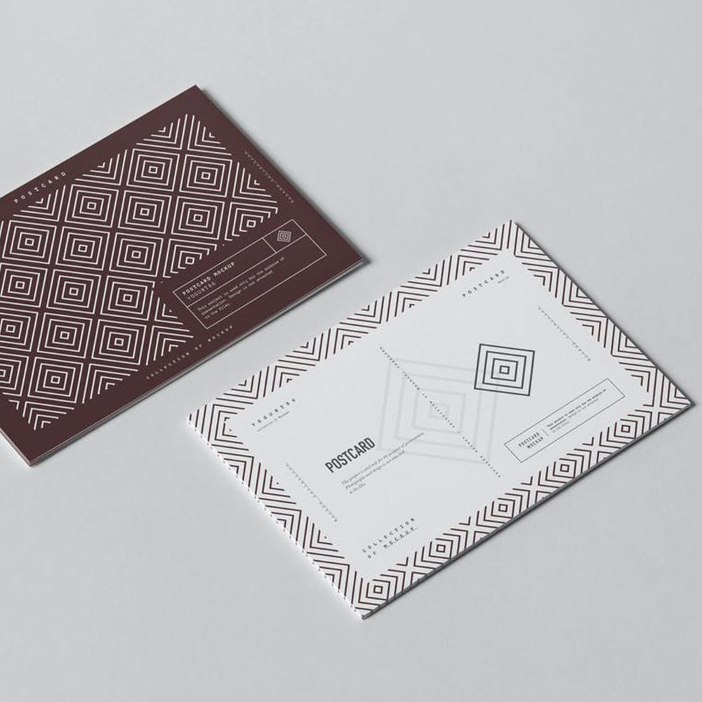 Geometric Postcard