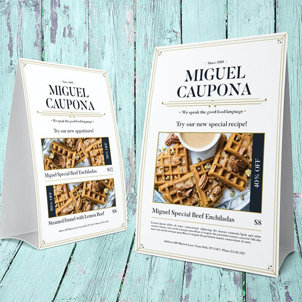 Miguel Caupona Tent Cards