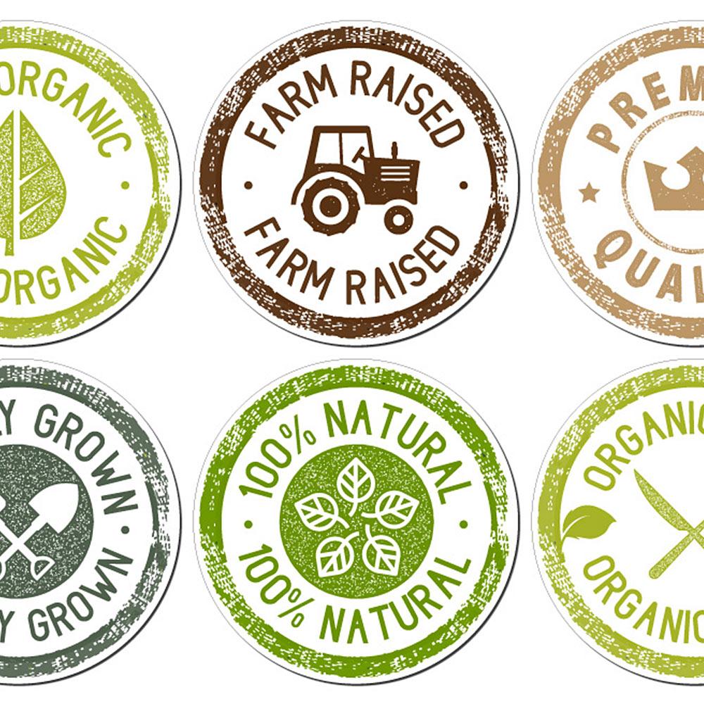 Organic Stickers Sheet