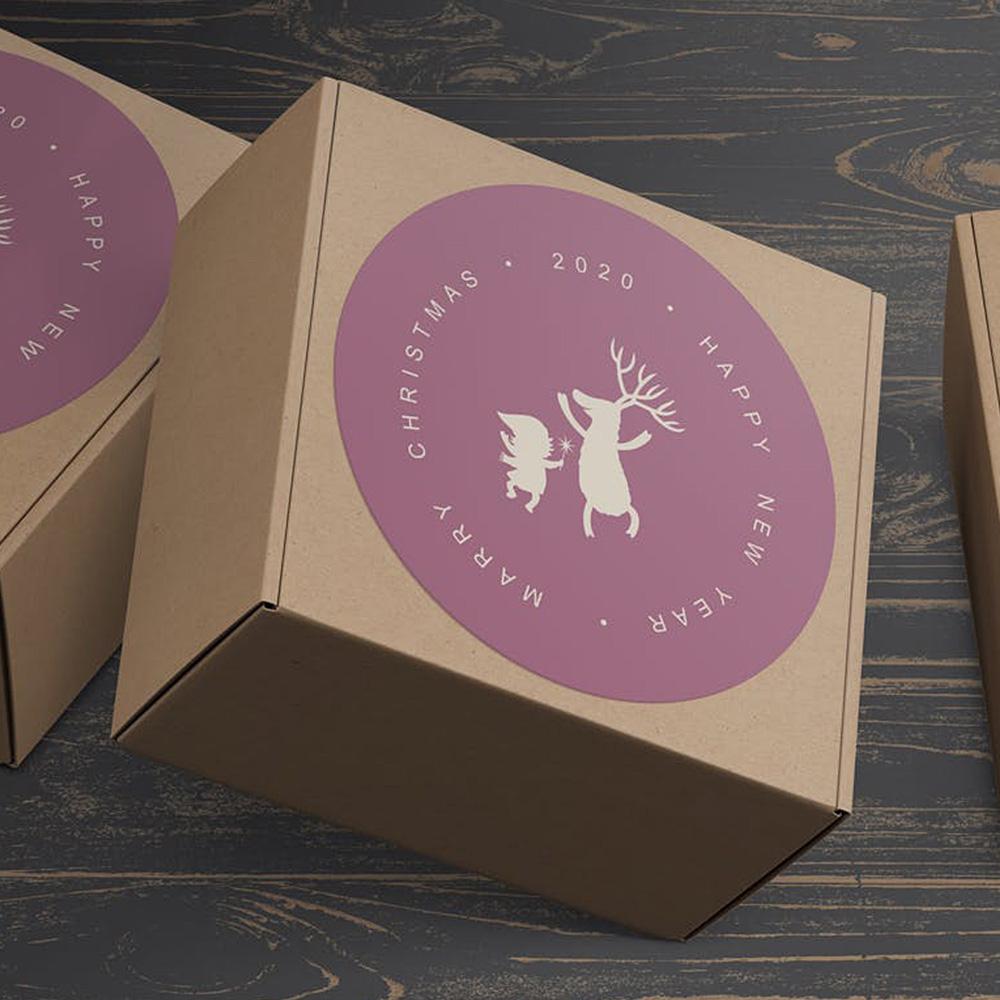 Xmas Box Stickers