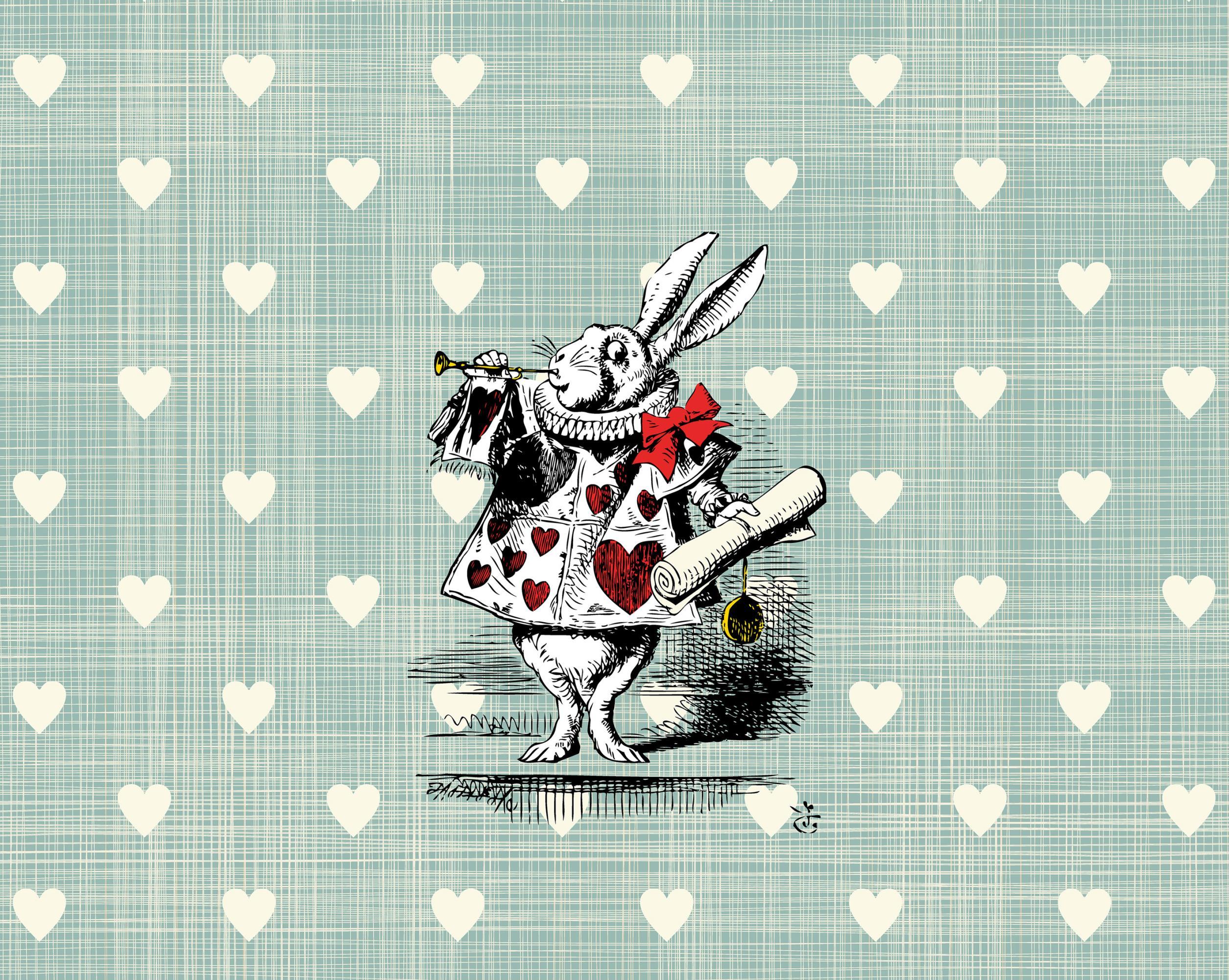 Alice In Wonderland Wonder Heart Wallpaper Mural