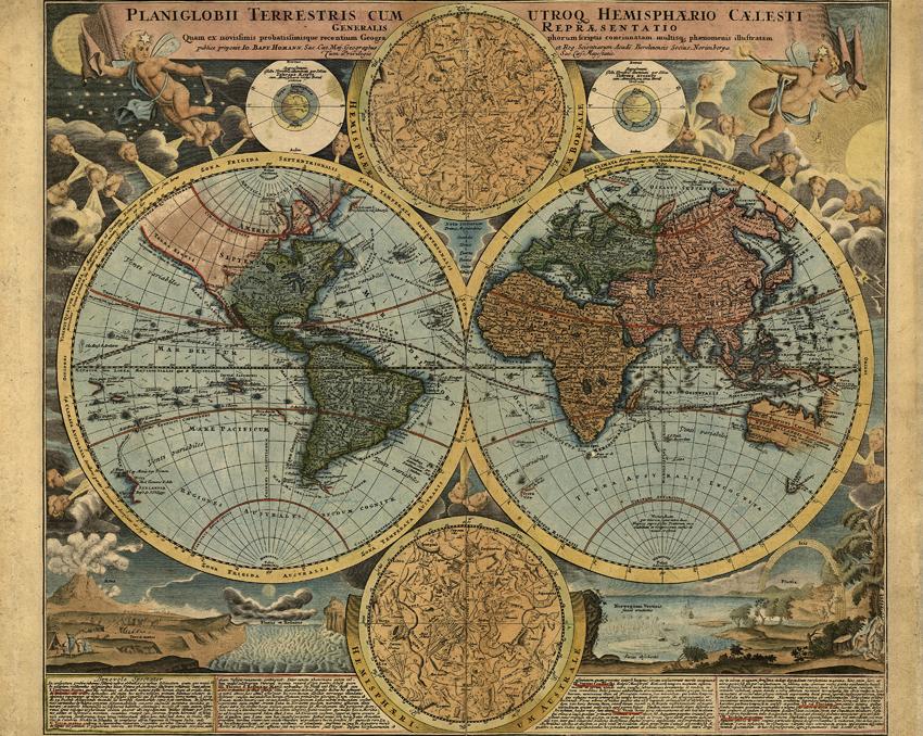 Travelers Globe Wallpaper Mural