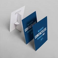 A5 Contactless Payment Strut Card