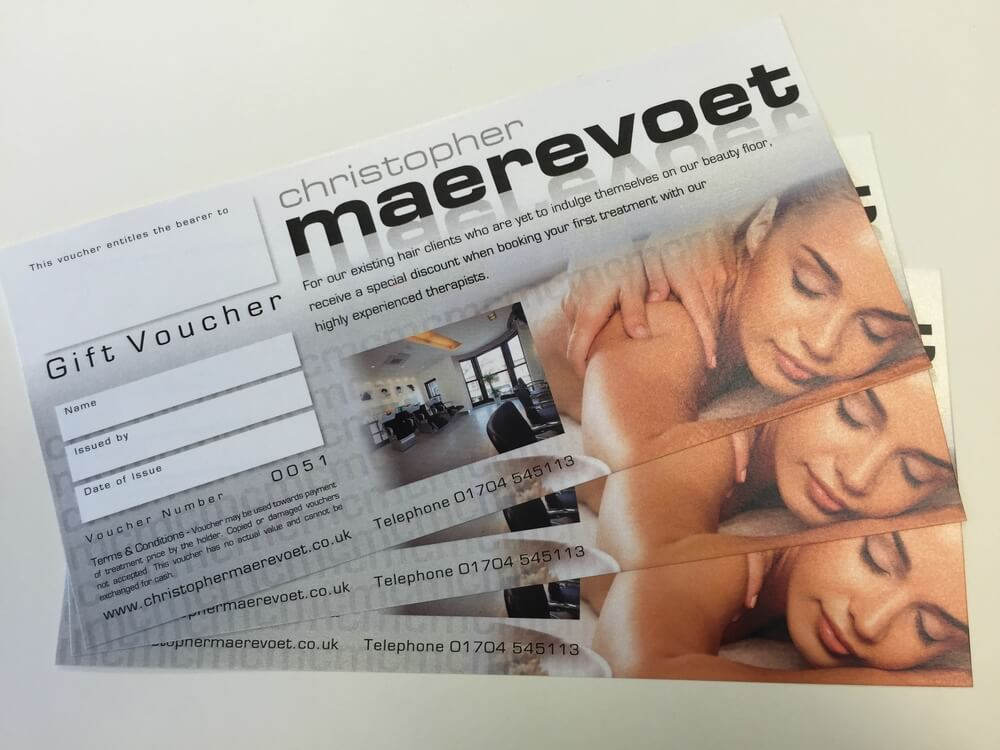 Gift Vouchers Numbered