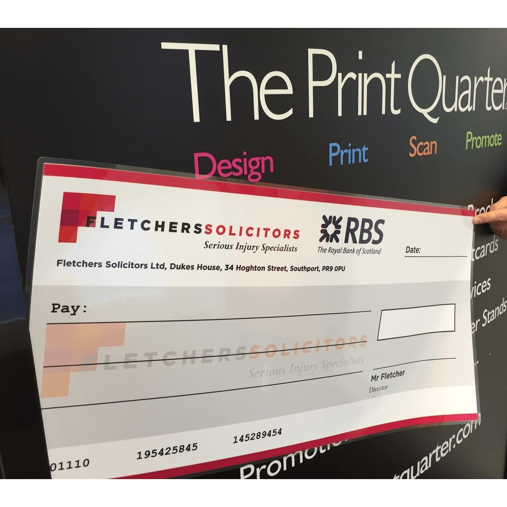 Large Cheques Gloss Laminated