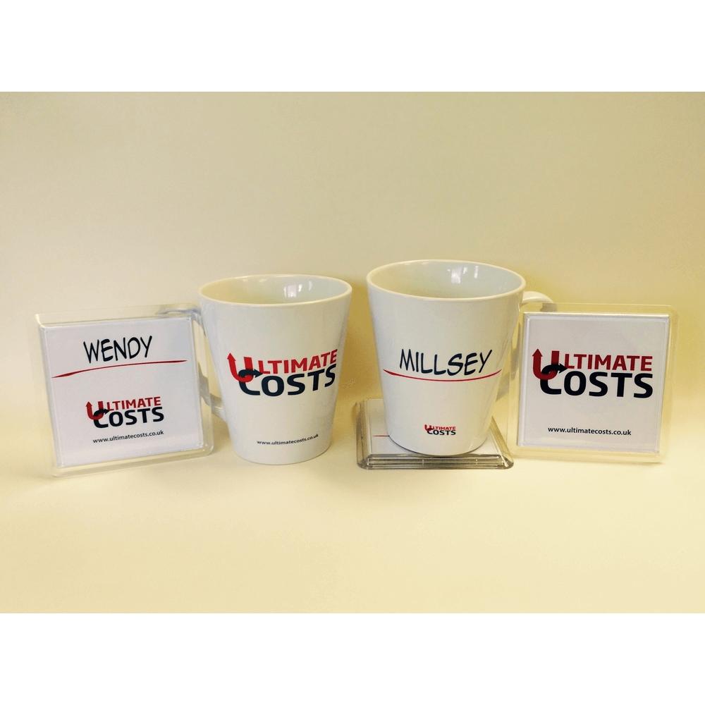 Personalised Staff Mugs And Coasters